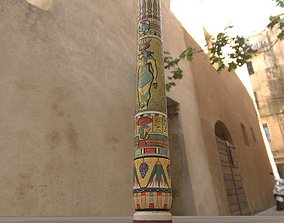 3D model Tall Egyptian Column
