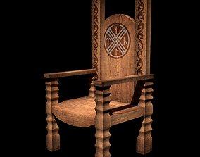 Simle Throne 3D asset