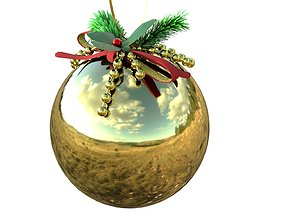 3D asset Christmas toy ball with decorations