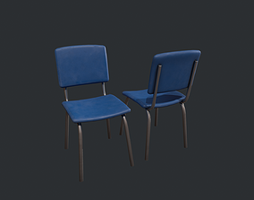 Basic Blue Chair 3D asset