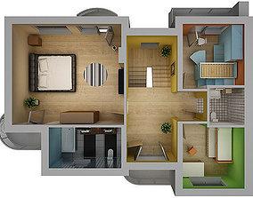 Home Interior Floor Plan 02 3D model