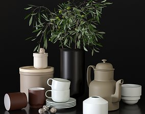 3D model Decorative set with dishes for the
