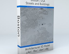 3D model Boston Streets and Buildings