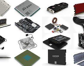 Computer Parts Pack 3D model