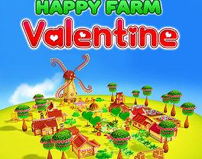 Happy Farm Valentine 3D model low-poly