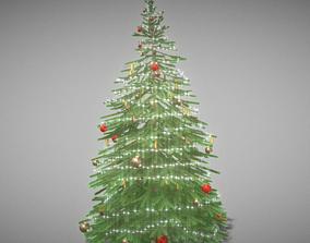 Indoor Christmas Tree 2m 3D model