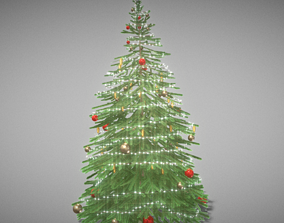 Indoor Christmas Tree 2m 3D model realtime