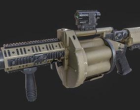 3D model Milkor Multiple Grenade Launcher 140