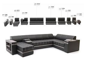 sofa Ritis 3D model