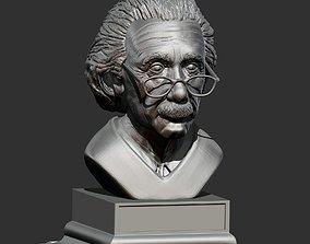 albert einstein 3D print model art