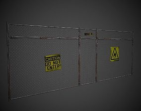3D asset Wire Fence PBR Low Poly