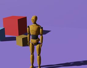 3D model rigged Crash Test Dummy