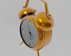3D model low-poly alarm clock