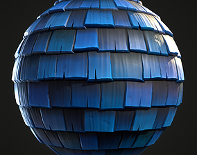 3D model Roof TIle Stylized Hand Painted Textures