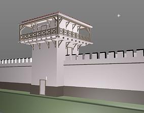 ROMAN TOWER - Limes Wall - printable 3D low-poly