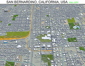 3D model San Bernardino California USA 40km