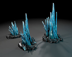 3D model Crystals low-poly
