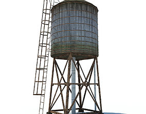 water tower 3D asset VR / AR ready