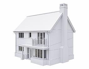 Neighborhood Houses P06 3D asset game-ready