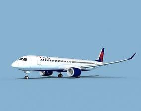 3D model Airbus A220-300 Delta Express