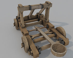 low-poly Catapult Low Poly 3D model