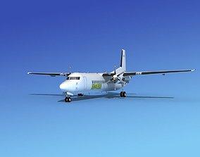 Fokker 50 Swe Fly 3D model