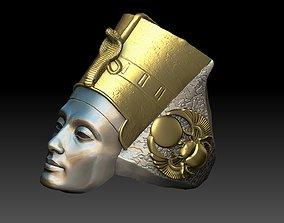 3D print model Egyptian Queen Nefertiti ring
