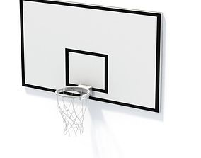 3D model Basketball Net And Backboard