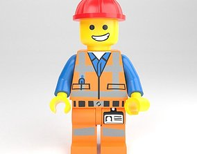 LEGO minifigure - Construction worker 3D model
