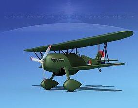 Curtiss P-6E Hawk V08 3D model