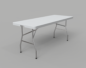 Folding Table - 6 Ft 3D model