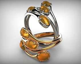 Couple of Oval Shape Cabochon Rings 3D print model