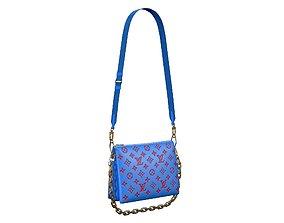 Louis Vuitton Coussin Bag Blue 3D asset