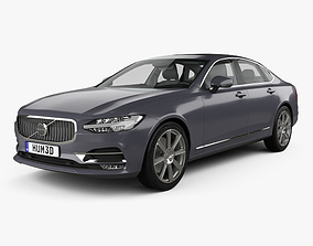 3D Volvo S90 with HQ interior 2017