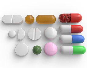 Simple Pills Pack 3D model
