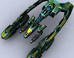 3DRT - Sci-Fi Fighters Fleet - Fighter 9 realtime