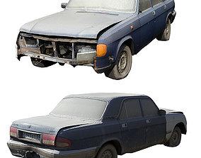 Old Soviet Car Volga soviet 3D asset