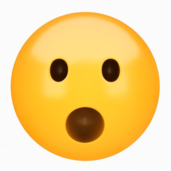 Emoji Face with Open Mouth 3D model