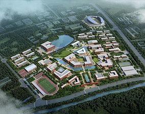 architecture School Buildings 3D