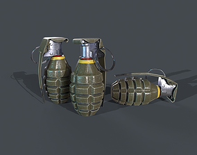 GRENADE 3D MODELING AND TEXTUREING game-ready