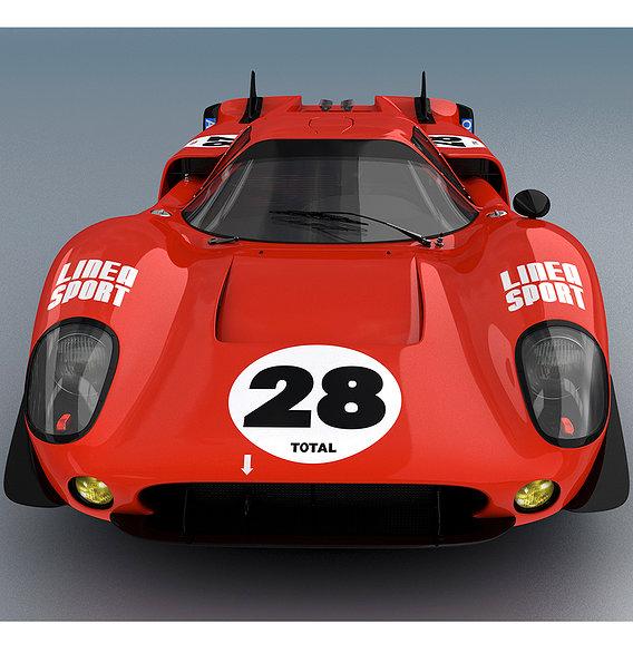 LOLA MK III T70 Red