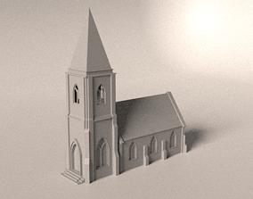 Small church 3D asset