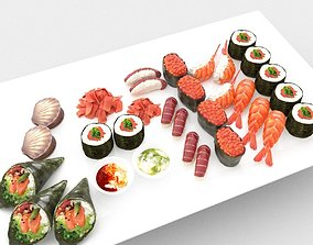 Seafood Collection 3D asset realtime