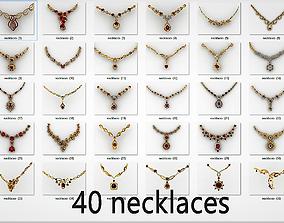3D print model 40 necklaces piece