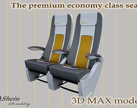 3D The premium economy class seat