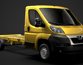 Peugeot Manager Chassis Truck Single Cab 4035WB 3D model
