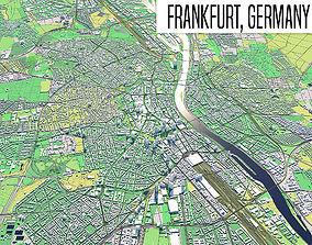 3D model city Frankfurt