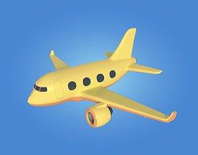 Cartoon toy airplane plane 3D asset