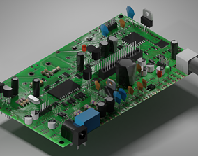 3D model realtime Circuit Board