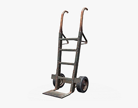 3D model low-poly Hand Truck
